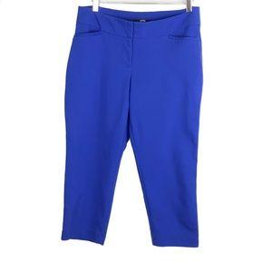 Apt 9 Royal Blue Cropped Dress Pants 12